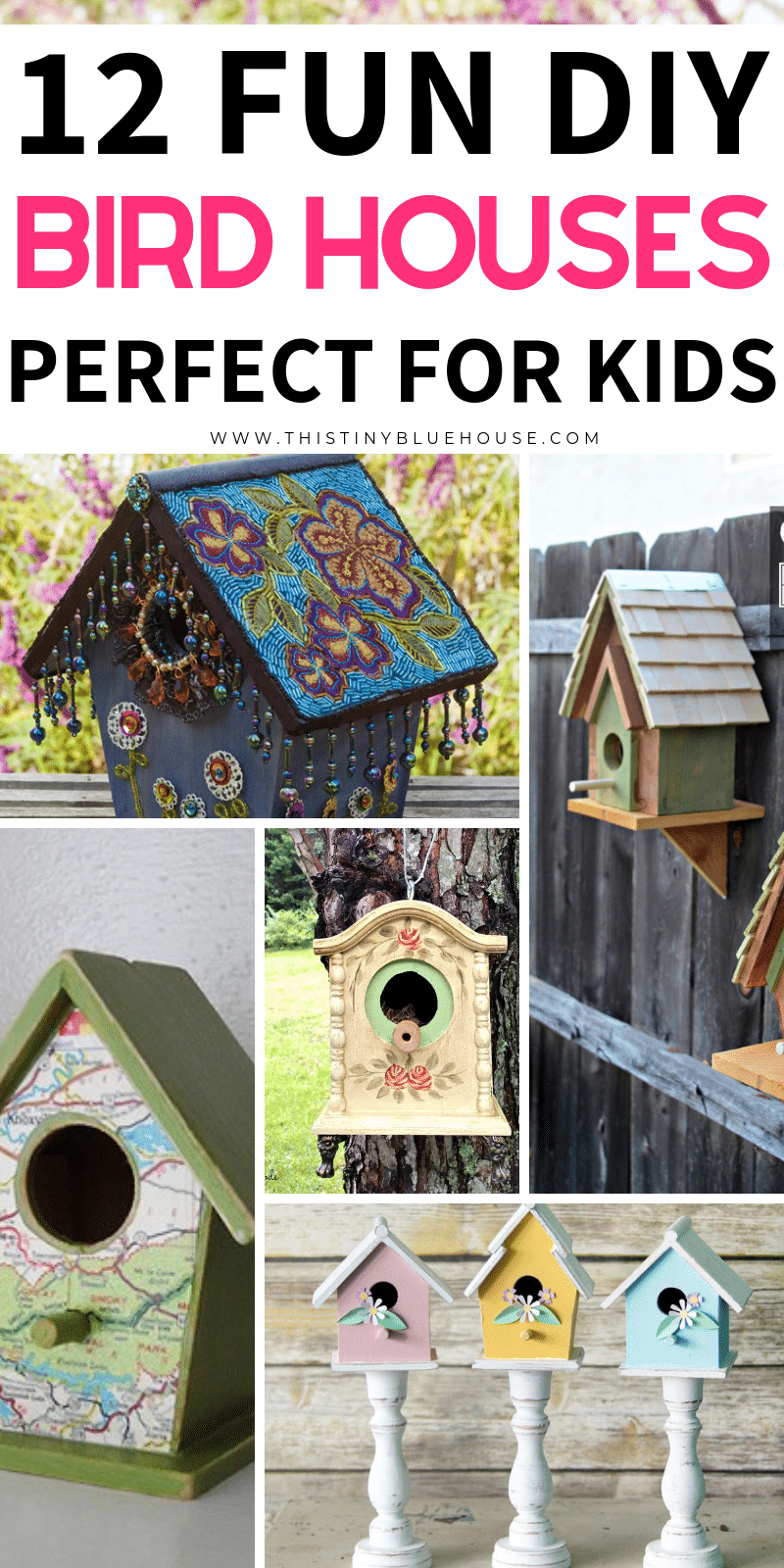 Add one of these DIY Birdhouse Projects to your summer bucket list! Easy to make and perfect for any outdoor space these birdhouses are perfect for summer. #DIYBirdHouses #DIYBirdHousesForKids #DIYBirdHousesEasy #DIYBirdHousesUpcycle #DIYBirdHousesWooden #DIYBirdHousesIDeas