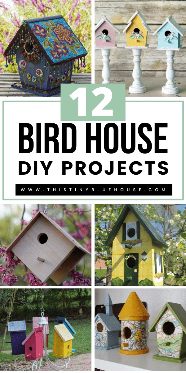 Take on one of these super cute and fun DIY Birdhouse projects this weekend. These easy to make DIY Bird Houses are a great way to attract various bird species to your environment. #diybirdhouses #diybirdhouses #diybirdhouseseasy #diybirdhousesplans #diybirdhousesideaseasy #diybirdhousesunique #diybirdhousesideas