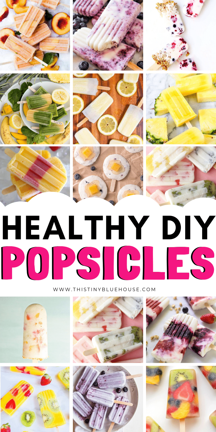 Here are over 35 delicious healthy homemade Popsicle recipes that kids are going to love! So, beat the heat with these refreshing delicious frozen treats. #diypopsicles #diypopsicleshealthy #diypopsiclesforkids #diyposiclerecipes #easydiypopsicles #healthydiypopsicles