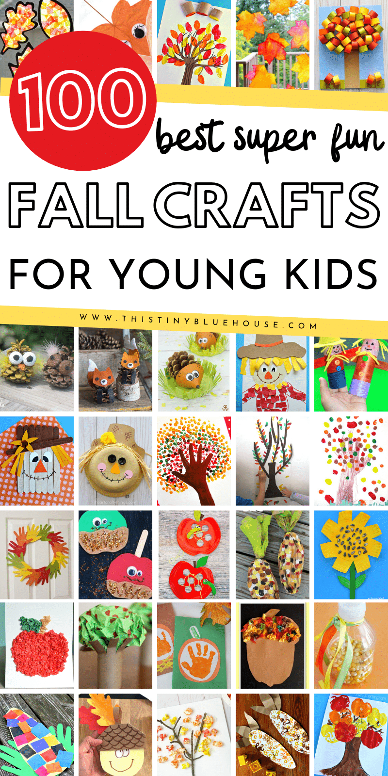 Here are over 90 best fun fall crafts for kids. Get excited about the arrival of fall with these easy to make kids craft ideas. #fallcrafts #fallcraftsforkids #bestfallcrafts #preschoolfallcrafts #autumncrafts #autumncraftideas #easyfallcraftsdiy