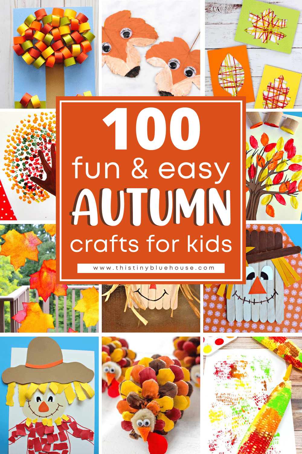 100 Best Fun & Easy Fall Crafts For Kids