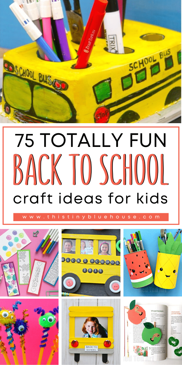 Get your kids excited about back to school with these super cute Back To School Crafts for kids. These crafts are perfect for home and classroom use and are the best way to welcome the new school year.