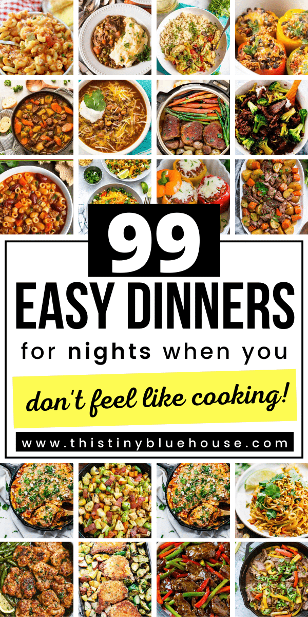 Make dinner a no brainer this week with these stupid easy no fuss dinner ideas. These 99 simple one pot wonder dinner ideas are great for nights when you're over cooking and just don't feel like cooking. These easy supper ideas are simple to put together are healthy and kid approved. #simpledinnerideas #onepotwonderdinners #fastsupperideas #kidsapprovedsuppers