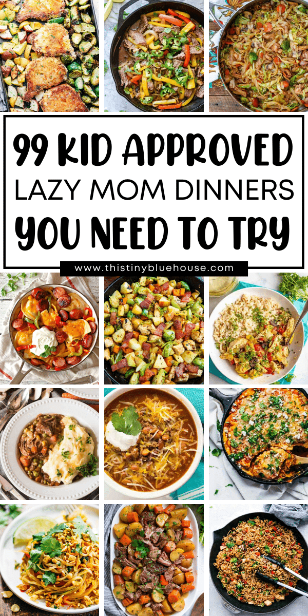 Make dinner a breeze with these 99+ easy weeknight supper ideas. Perfect for busy families these delicious school night dinner ideas are delicious, healthy and kid approved!