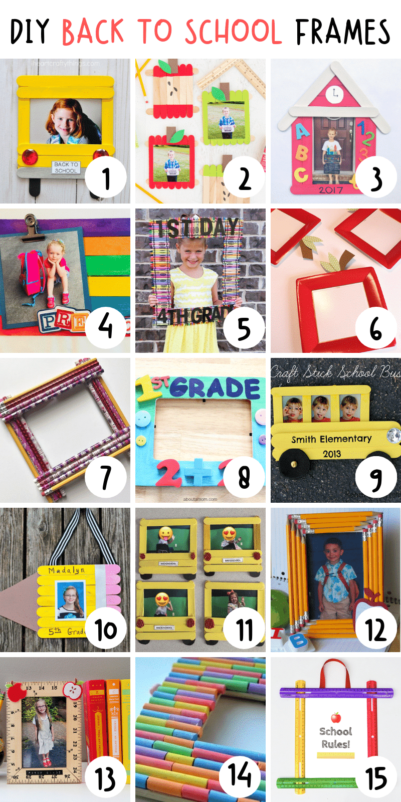 Here are over 70 clever and cute back to school crafts that are a great way to motivate your kids and get them excited about heading back to school. #craftsforkids #backtoschoolcrafts #craftideasforbacktoschool #craftsforpreschoolers #backtoschoolcraftsforkids
