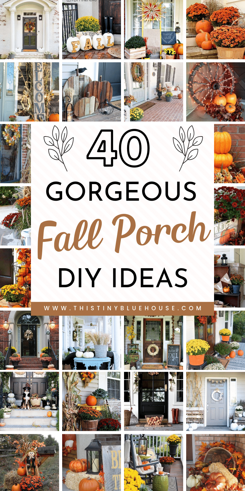 40 Gorgeous Fall Diy Porch Decor Ideas This Tiny Blue House