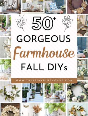 Add some rustic farmhouse charm to your home this fall with these DIY farmhouse fall decor ideas. Over 50 gorgeous fall decor ideas to glam up your home both on the inside and out. From wreaths to indoor decor and porches these cheap and elegant DIY projects are guaranteed to glam up your house this autumn. #DIYfalldecor #farmhousefalldecor #DIYfarmhouseautumndecor #farmhousdecorideas #autumnfarmhousedecorideas #DIYfalldecorideas #DIYautumndecorideas