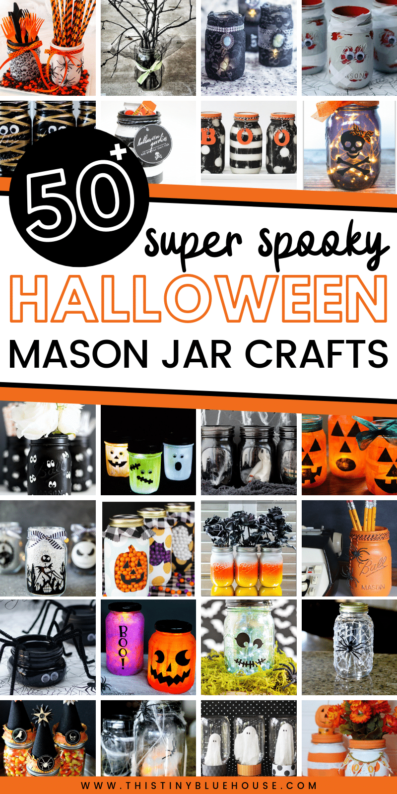 50 Best Spooky Diy Halloween Mason Jars This Tiny Blue House