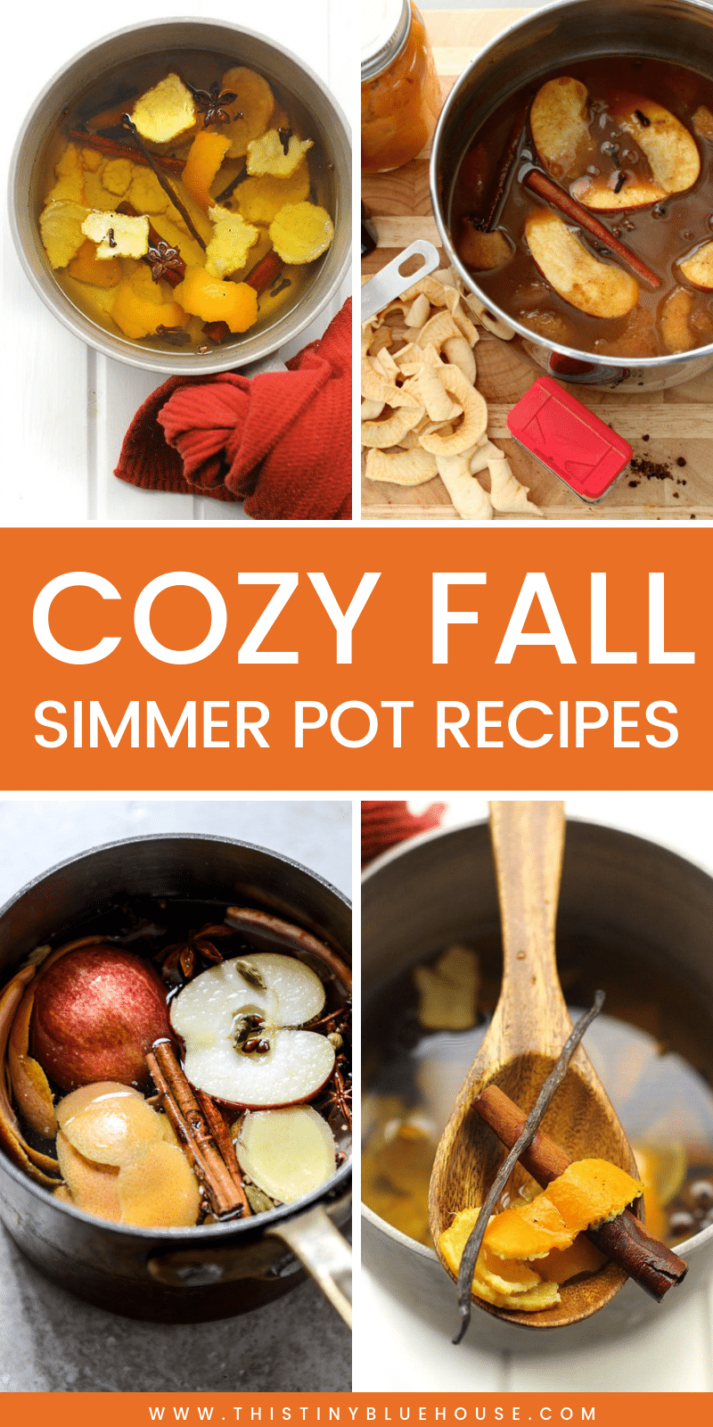Make your home smell delicious & cozy this fall with these must try fall simmer pots. Natural & inexpensive these are the best fall simmer pot fall recipes. #falldiy #fallsmellhacks #smellhacksforthehome #diysmellhacks #autumnsmellhacks #bestsimmerpots #simmerpotrecipes #simmeringpotpourri