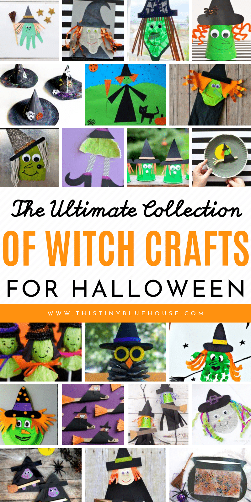 Get kids super excited about Halloween with these non scary witch Halloween crafts. With 20+ witch crafts to choose from these crafts are guarnateed fun! #halloweencrafts #halloweencraftsforkids #witchcrafts #witchcraftsforkids #easyhalloweencraftsforkids #nonscaryhalloweencrafts
