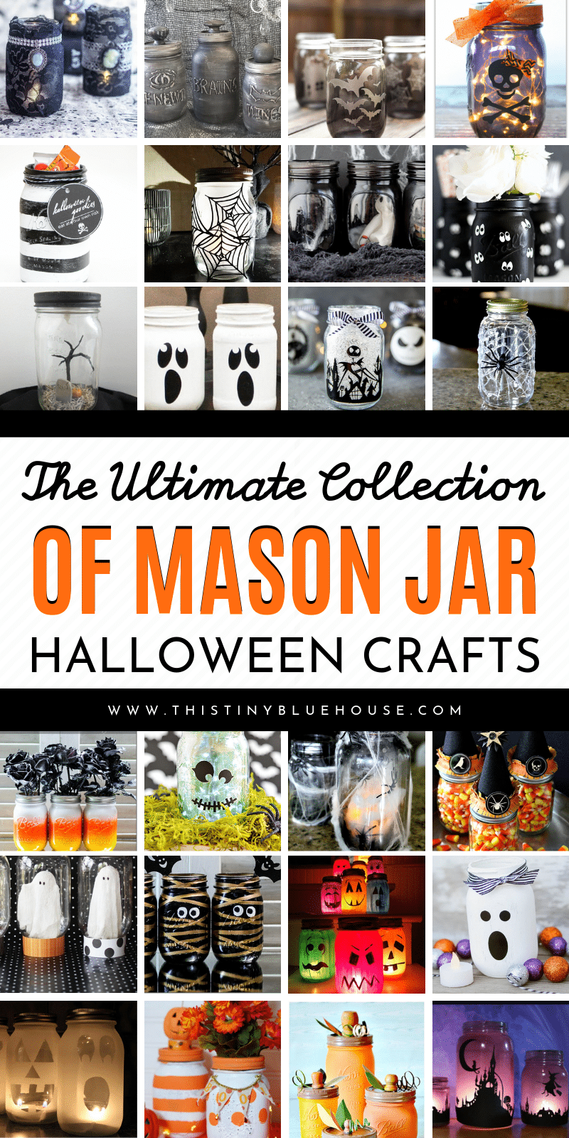 Here are over 50 spooky DIY Halloween Mason Jars that are a perfect way to decorate your home in anticipation of Halloween. From pumpkin mason jars to spooky villages these crafts are a great way to get excited about Halloween. #DIYHalloweenDecor #DIYHalloweenDecorIdeas #DIYHalloweenMasonJars #DIYHalloweenMasonJarCrafts #HalloweenMasonJarCrafts #MasonJarCrafts