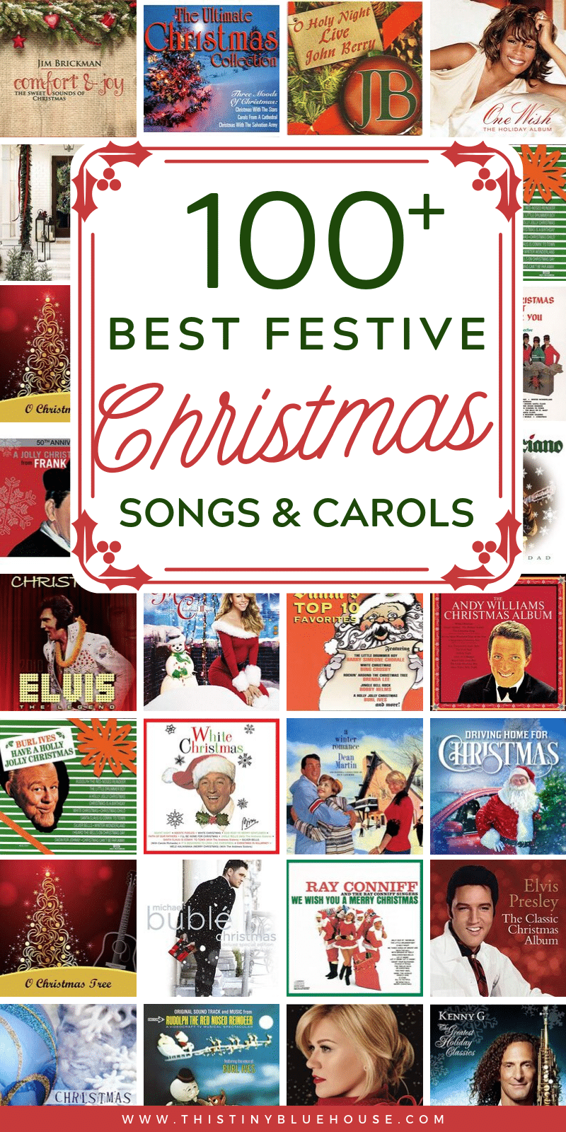 Get into the holiday spirit with these BEST festive Christmas songs & carols. From classic to contemporary this is the best Christmas song collection! #christmasmusic #bestchristmasmusic #christmassongs #bestchristmassongs #bestchristmasmusicforkids #classicchristmassongs #classicchristmascarols