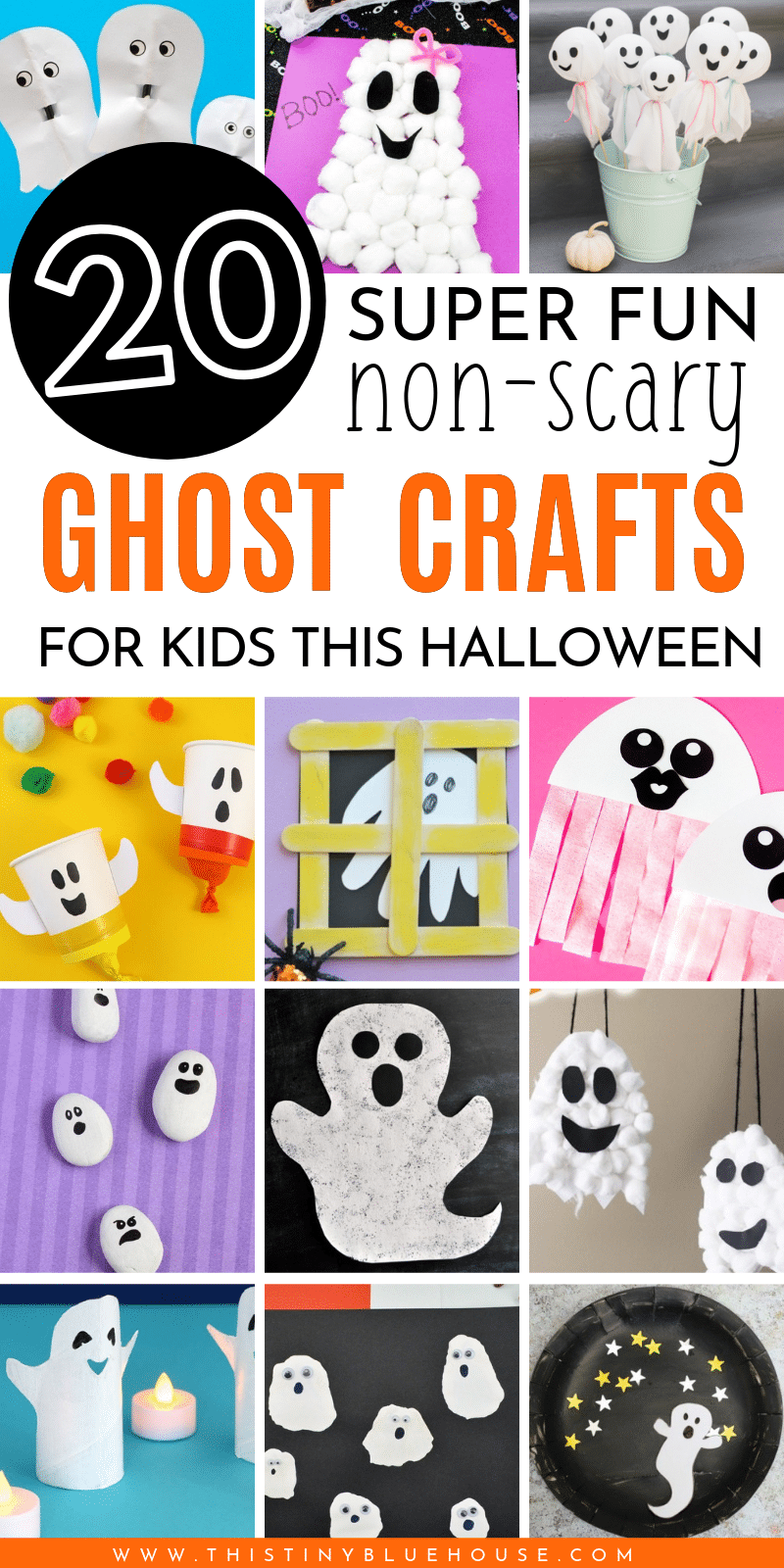here are 30 best cute Halloween ghost crafts for kids that are easy to make and are guaranteed to provide hours of fun for kids. #halloweencrafts #DIYhalloweencrafts #easycraftsforhalloween #besthalloweencraftsforkids #ghostcraftsforkids