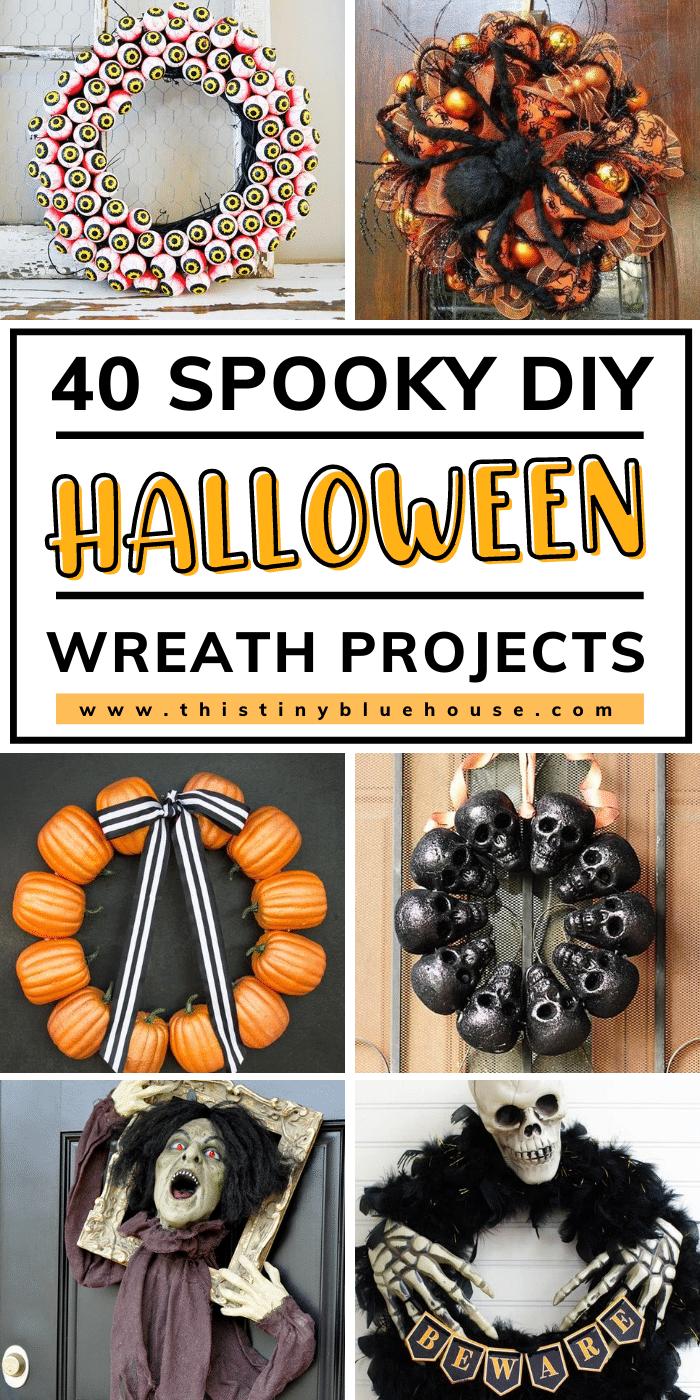 40 Best Spooky DIY Halloween Wreath Tutorials