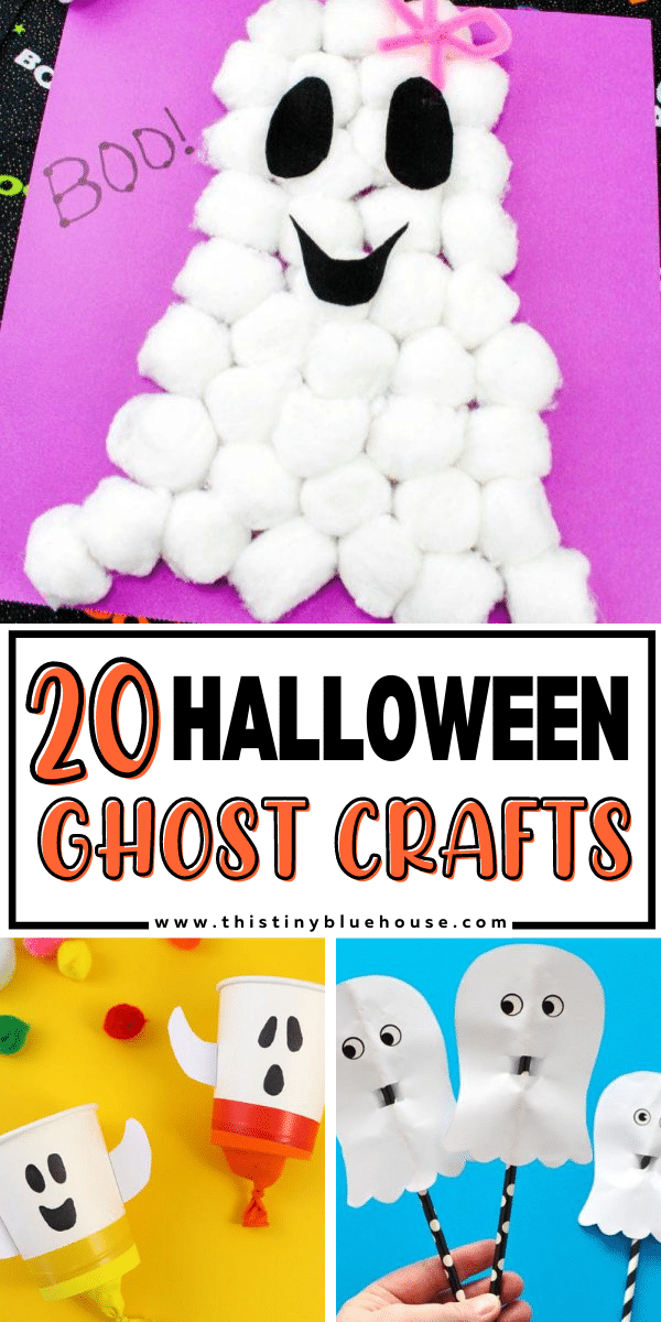 20 Adorable Non Scary Halloween Ghost Crafts