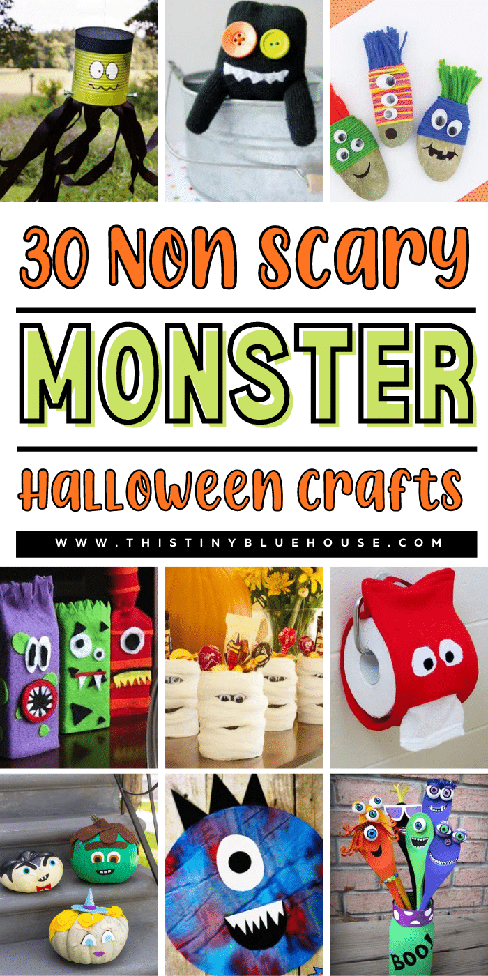 30 Super Cute NON SCARY Monster Halloween Crafts