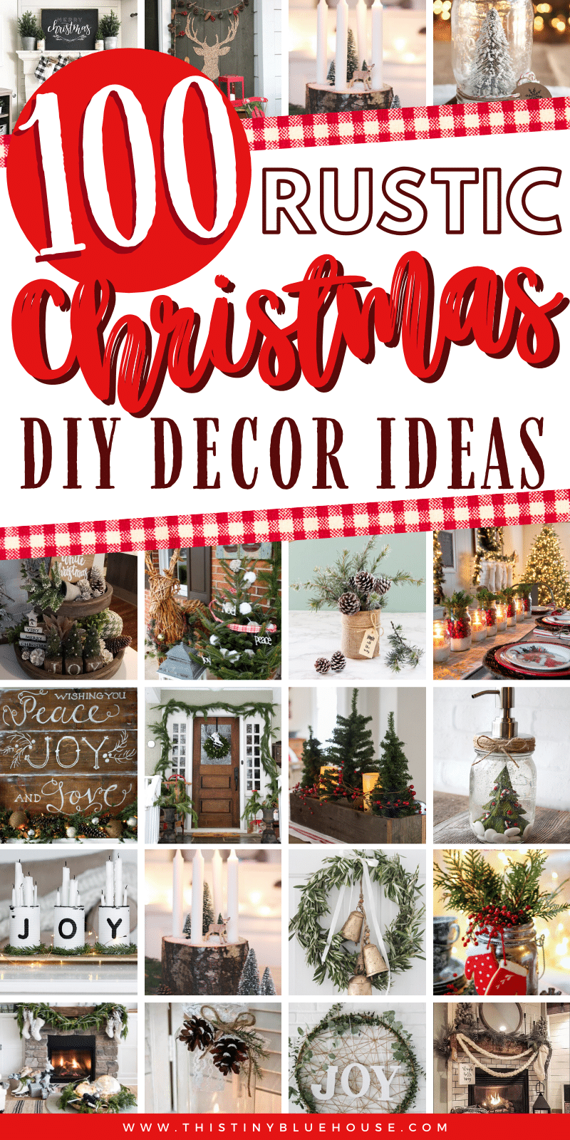 Add a touch of rustic cozy to the inside and outside of your home with these stunning DIY rustic Christmas decor ideas. 100+ STUNNING best ideas! #DIYChristmasDecor #DIYChristmasDecorDollarStore #DIYChristmasDecorRustic #DIYChristmasDecorFarmhouse #DIYChristmasDecorCheap #DIYCHristmasDecorRusticCenterPieces #DIYChristmasDecorRusticBudget #BeautifulRusticChristmasDecor