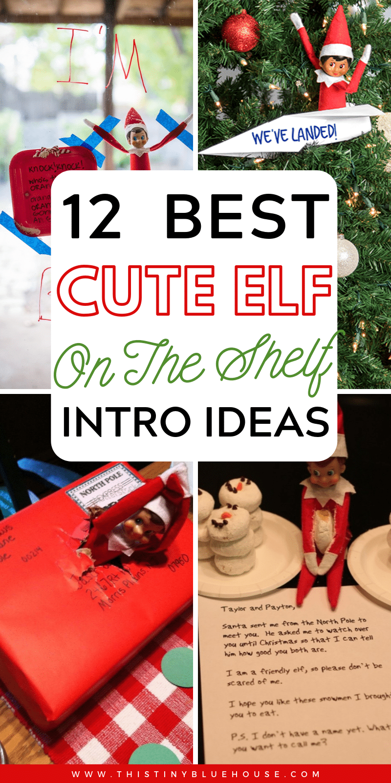 With Christmas right around the corner it's time to start thinking about dusting off your Elf on The Shelf. Make the arrival of your beloved Elf a blast with these adorable and easy elf on the shelf intros. #elfontheshelf #elfontheshelfideas #elfontheshelfarrival #elfontheshelfintros #elfontheshelfeasy #elfontheshelfhello #elfontheshelfintros