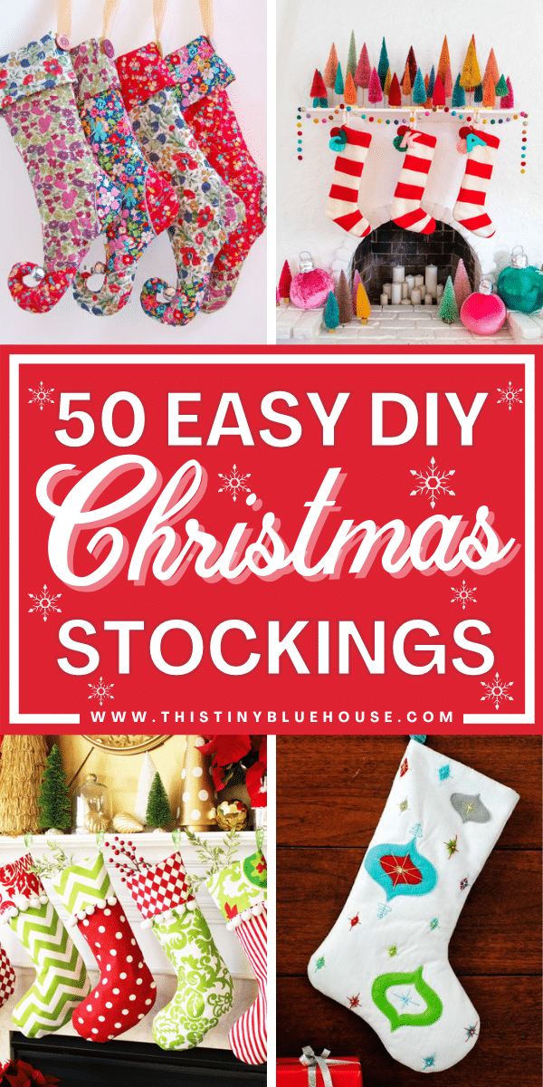 Here are 50 of the BEST festive and easy DIY Christmas Stockings tutorials. Add these DIY stockings to your holiday traditions this year.
