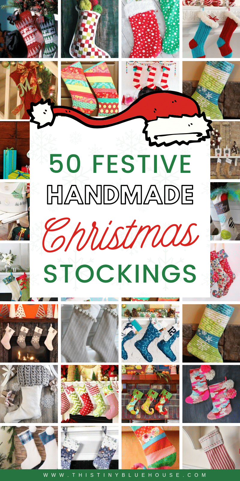 here are 50 of the BEST festive and easy DIY Christmas Stocking tutorials. Add these DIY stockings to your holiday traditions this year. #ChristmasStockings #ChristmasStockingsDIY #ChristmasStockingsPatterns #CHristmasStockingsIdeas #ChristmasStockingsHomemade #ChristmasStockingsPersonalized #DIYChristmasStockings