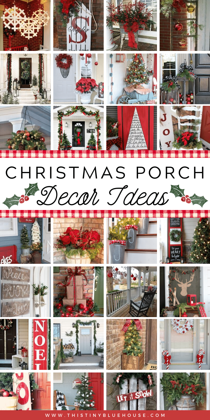Glam up your porch this Christmas with these stunning festive Christmas Porch Decor ideas. With over 100 festive ideas to choose from you're guaranteed to become the envy of the neighborhood. #DIYChristmasDecor #DIYChristmasPorch #ChristmasPorchRustic #ChristmasPorchDIY #ChristmasPorchIdeas #EasyChristmasPorchIdeas #BestChristmasPorchIdeas DIYChristmasPorchDecor