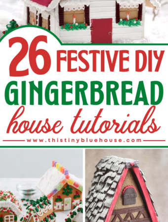 26 Festive DIY Gingerbread House Tutorials