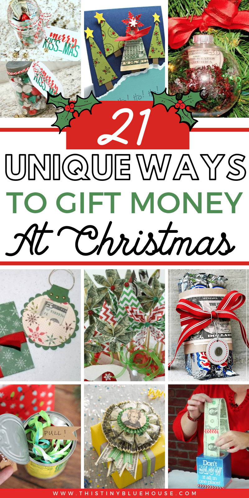 Make gifting money fun & festive with these unique Christmas money gifts. These best ways to give money gifts are the ultimate way to give the gift of cash. #moneygifts #moneygiftideas #moneygiftchristmas #creativemoneygift #moneygiftforkids #moneygiftideasunique #holidaymoneygifts #christmasmoneygifts