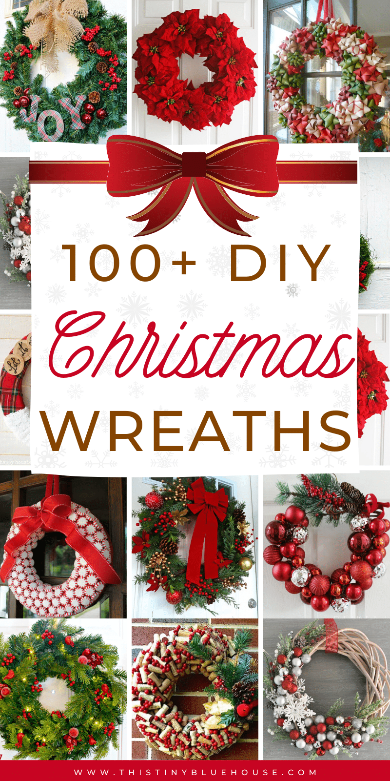 get your front door ready for the holidays with this ultimate collection of best cheap DIY Christmas Wreaths. With over 100 BEST holiday wreaths to choose from you're guaranteed to have the most festive door on the block. #DIYChristmasWreaths #DIYChristmasWreathsDollarStore #DIYChristmasWreathsDecorations #DIYChristmasWreathsEasy #DIYChristmasWreathsIdeas #DIYChristmasWreathsCheap