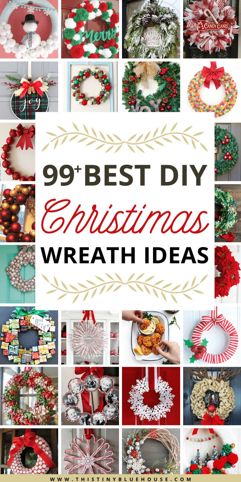 100 Best Cheap Diy Christmas Wreaths This Tiny Blue House