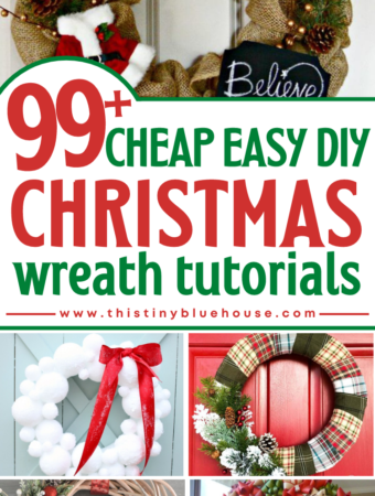 100+ Cheap and Easy DIY Christmas Wreath Tutorials