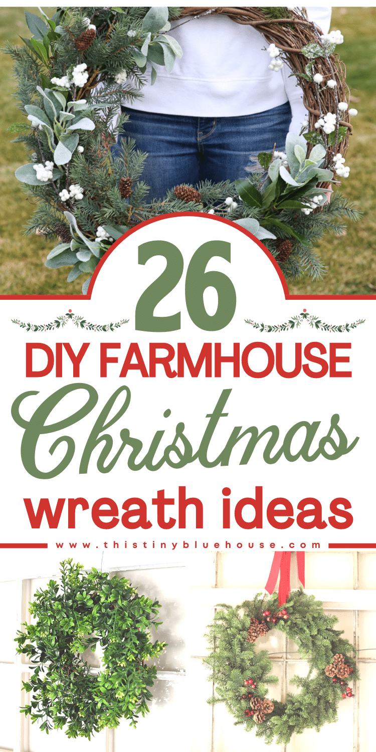 26 DIY Farmhouse Christmas Wreath Ideas