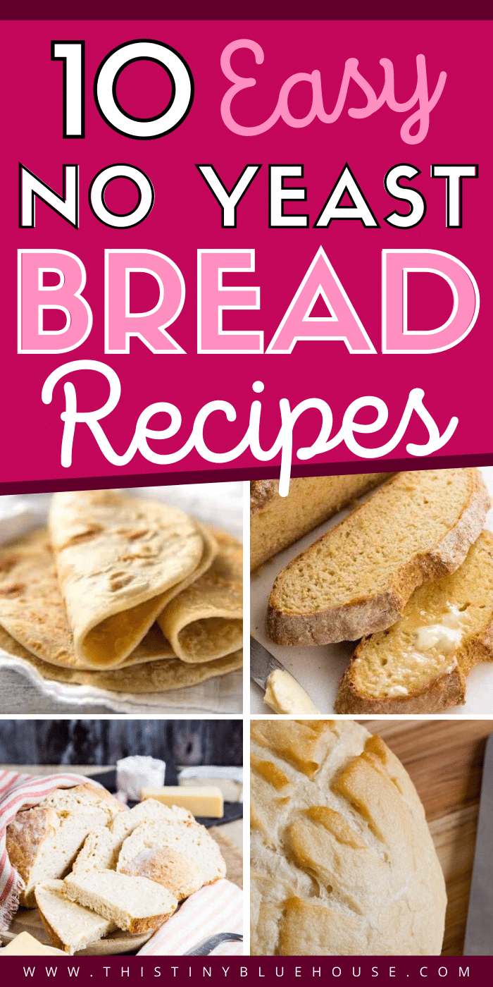 No yeast? No problem! Whip up one of these beyond delicious no yeast bread recipes for dinner tonight! Easy, delicious and comforting these no yeast breads are a guaranteed hit. #noyeastbread #noyeastbreadrecipe #noyeastbreadrecipeseasy #noyeastbreadquick #noyeastbreadrolls #noyeastbreadloaf #homemadenoyeastbread #easynoyeastbread #goodnoyeastbread