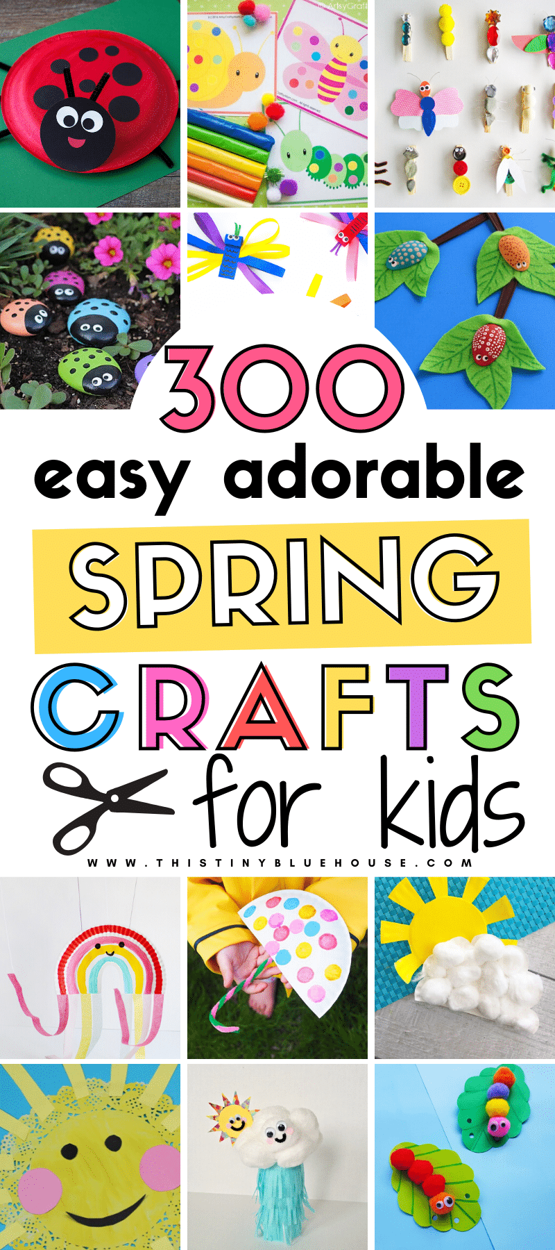 Help the kids welcome spring with these best spring crafts for kids. This MEGA post includes over 300 super fun and easy crafts to make this spring. #springcrafts #springcraftsforkids #easyspringcrafts #easyspringcraftsfortoddlers #easyspringcraftsforpreschoolers #simplespringcraftsforyoungkids #springcraftideas #easyspringcraftideas