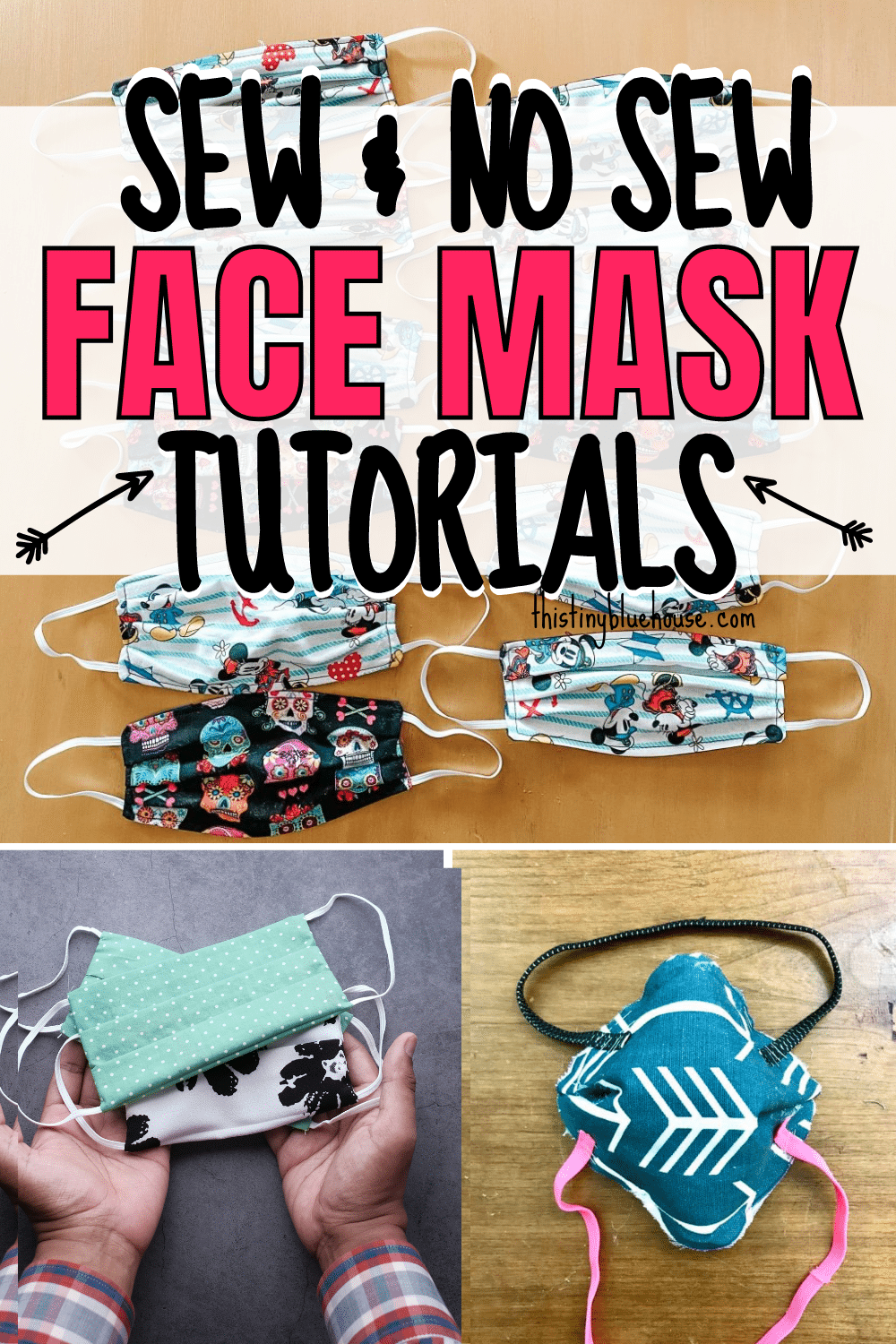 Sew & No Sew Face Mask Tutorials