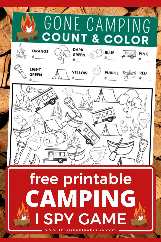Free Printable Camping I Spy Game For Kids