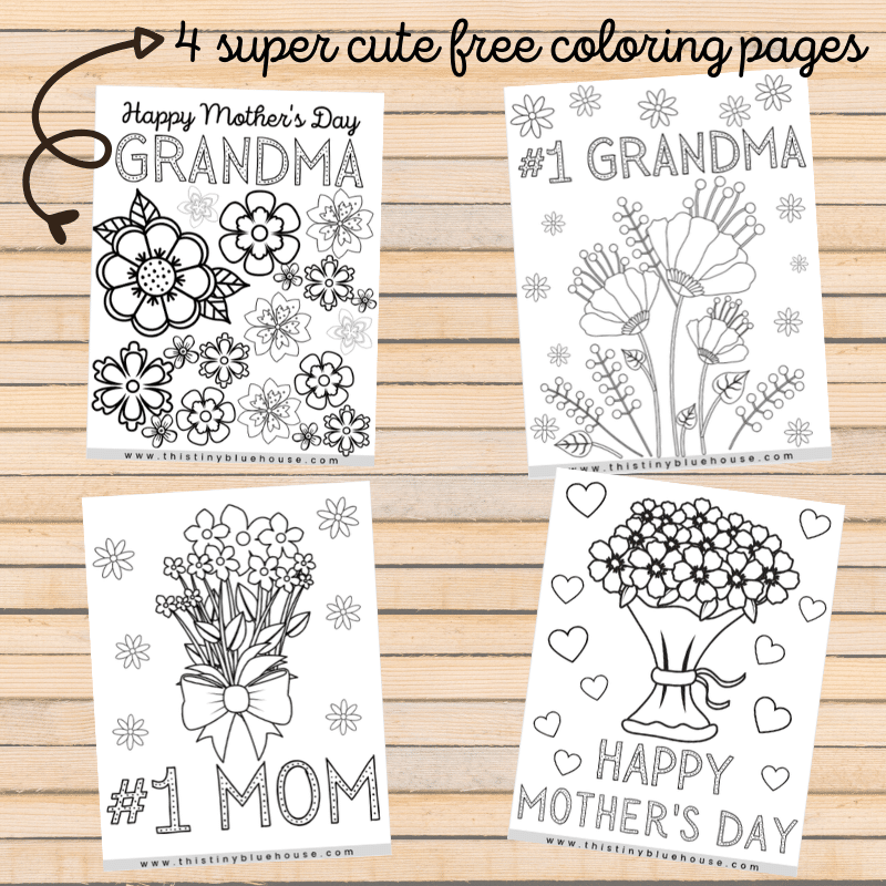 - 4 Free Printable Mother's Day Coloring Pages - This Tiny Blue House