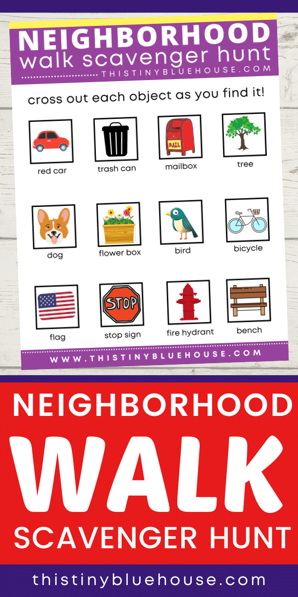 This neighborhood walk scavenger hunt is the best way to get kids excited about walking by encouraging exploration discovery making skills. This walk and find scavenger hunt is fun for the whole family. #freeprintables #scavengerhunt #scavengerhuntideasforkids #scavengerhuntoutdoor #scavengerhuntneighborhood #neighborhoodscavengerhunt #walkandfindscavengerhunt