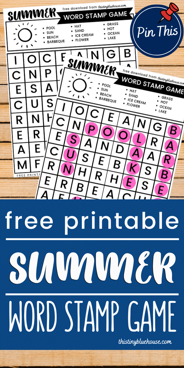 Here's a free printable summer Bingo stamper printable word search game! This twist on a classic word search game is an super fun activity for young kids. #wordsearch #wordsearchprintables #wordsearchprintablesforkids #dotstamperwordsearch #wordsearchdotstamper #bingstamperwordsearch #wordsearchsummer