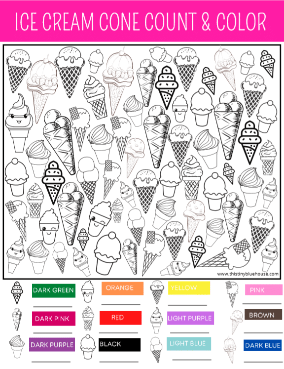 Boredom Busting Ice Cream I Spy Activity and Game