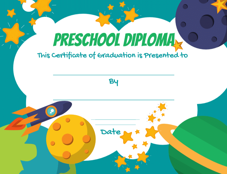 Celebrate your preschooler's graduation safely at home with these adorable free preschool diploma printable templates. These adorable free printable diplomas are a great way to celebrate your child's achievement.
