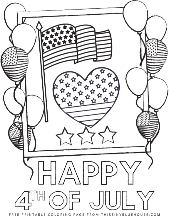 4 Patriotic Free Printable 4th Of July Coloring Pages - This Tiny Blue House