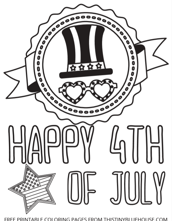 Welcome Independence Day with these super cute patriotic FREE printable 4th of July coloring pages & worksheets that are perfect for older & younger kids alike.