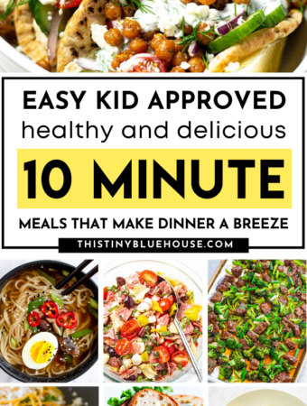 Get dinner on the table QUICK with these easy kid approved (healthy & delicious) meal ideas that take less than 10 minutes to prepare. These quick and easy 10 Minute meals are perfect for quick summer meals or nights when you just don't feel like cooking.