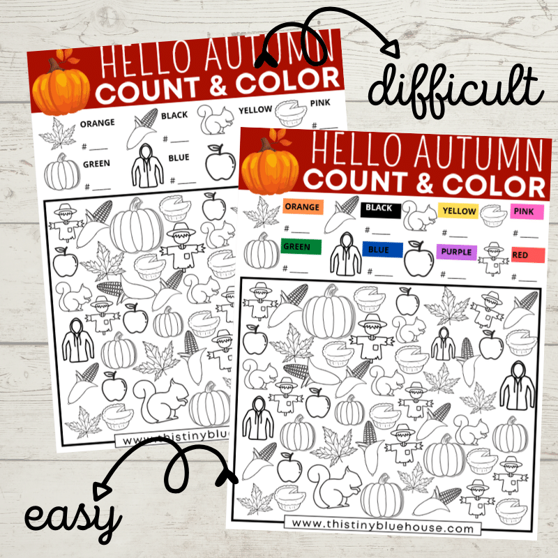 Free Printable Fall I Spy Activity For Kids