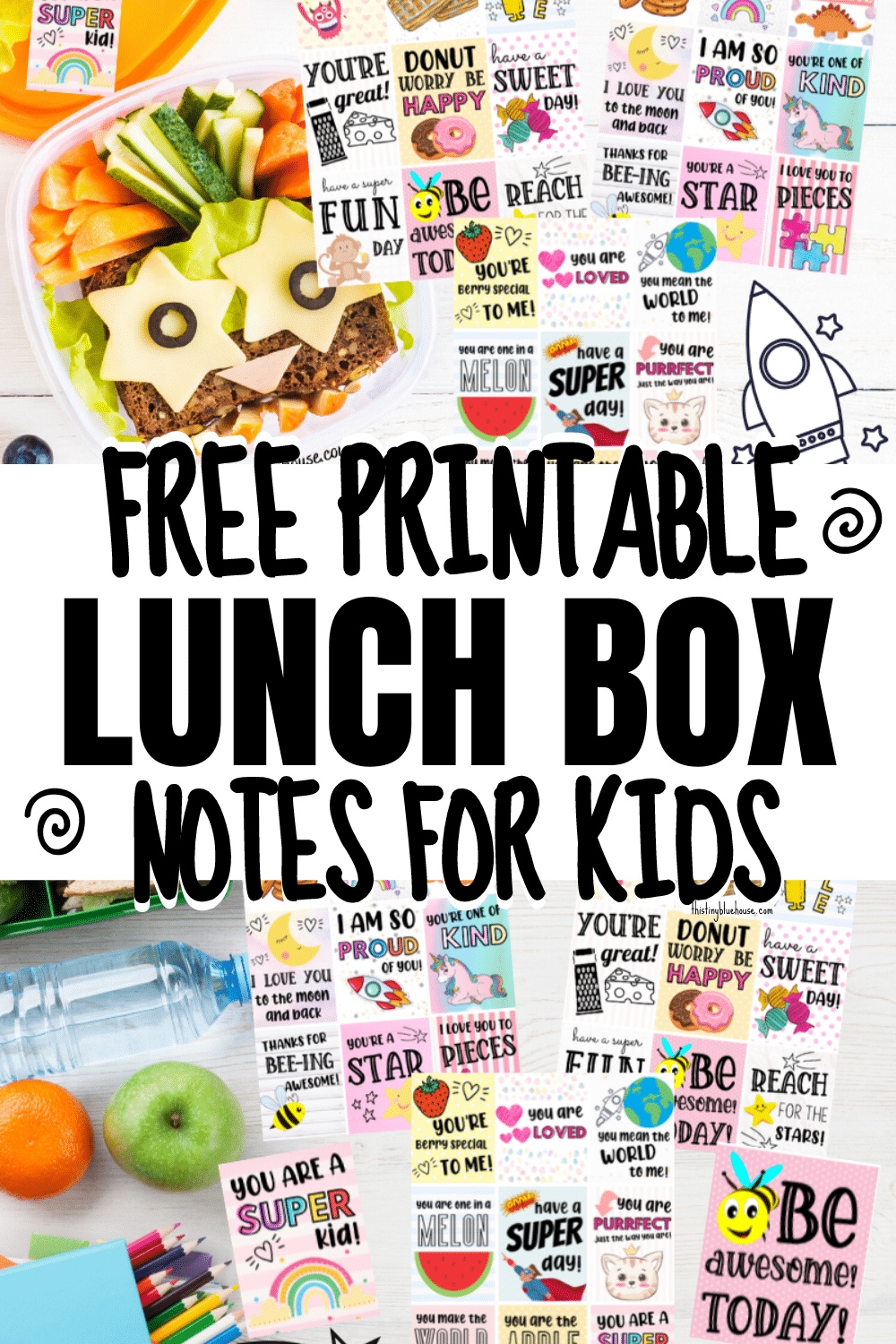 FREE Printable Lunch Box Notes (Perfect For Packed Lunches)