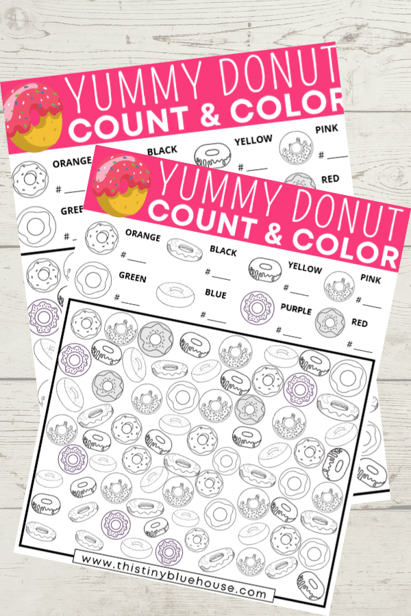 Reduce screen time and encourage counting, sorting and coloring skills with this FREE printable Donut I Spy Count and Color activity game kids just love. Perfect for kids as young as 3 this fun I Spy Activity for kids is a great boredom busting activity.