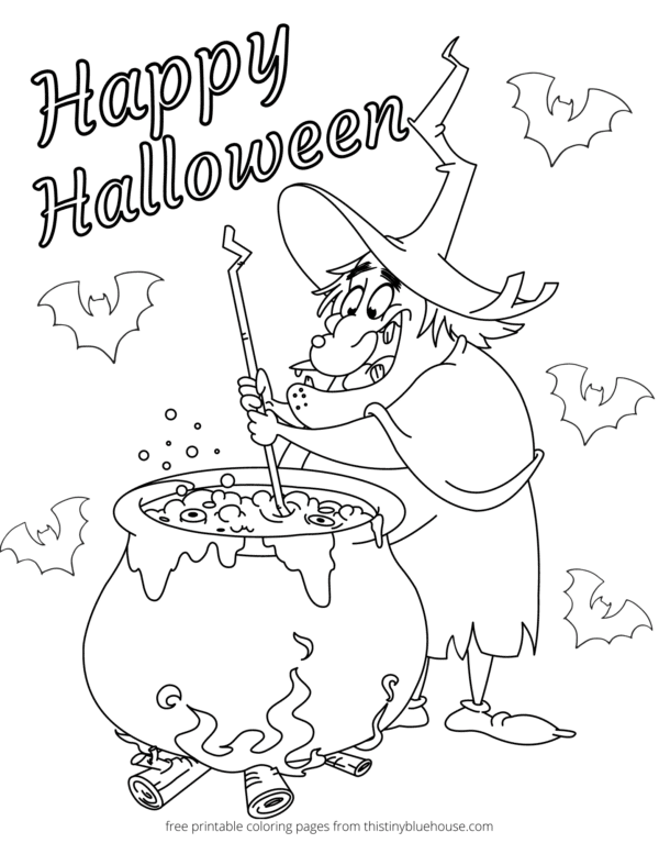 7 Best Free Printable Non Scary Halloween Coloring Pages - This Tiny Blue  House