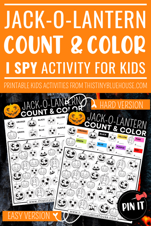 Free Printable Jack-O-Lantern I Spy Game For Kids