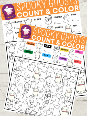 Spooky Ghost I Spy Halloween Free Printable