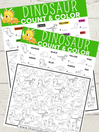 Free Printable Dinosaur I Spy Game